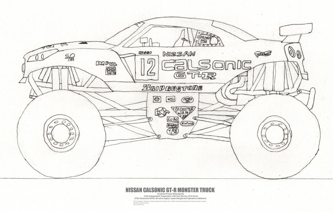 the nissan gt r monster truck by jim prower on deviantart