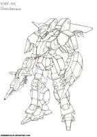 Lineart: Gendarme by Xperimental00