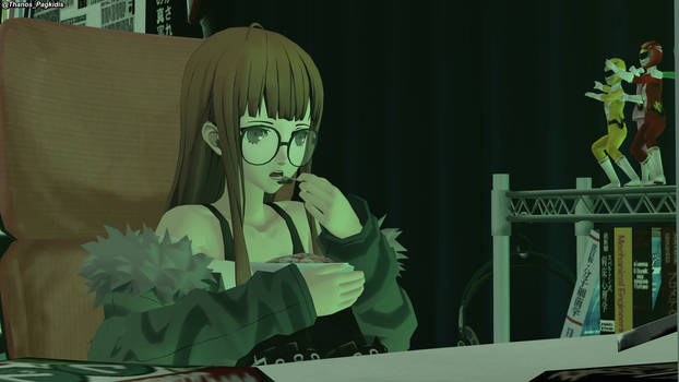 P5 - Futaba eating Cereal at 4AM