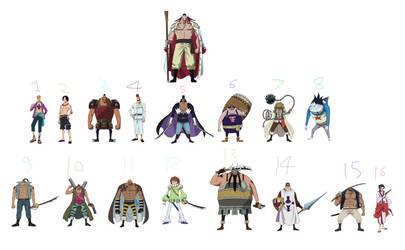 Whitebeard and his Commanders