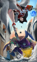 [LOL] Jax vs Ahri by dukimist800323
