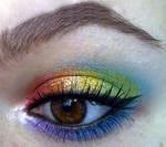rainbow makeup look :D
