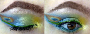 request: peacock inspired look