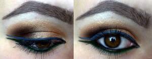 Indian inspired makeup look :D