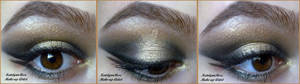 black and gold make-up look