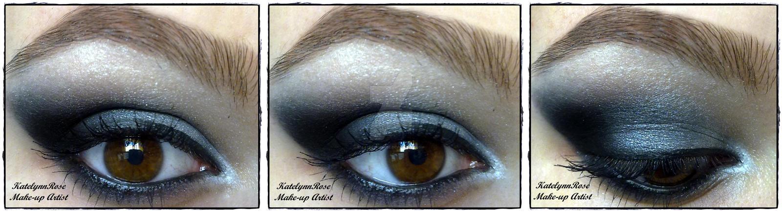 winged smokey eye look by KatelynnRose