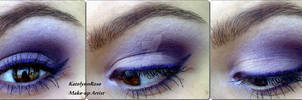 Lilac make-up look