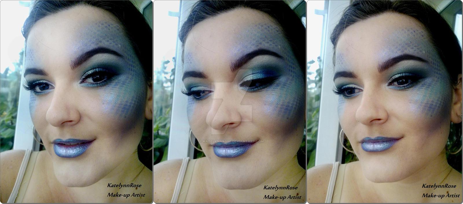 Halloween makeup: Mermaid by KatelynnRose on DeviantArt