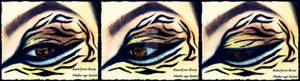 Tiger inspired make-up look :D