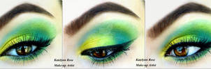 Gold, Lime green and teal + TUTORIAL
