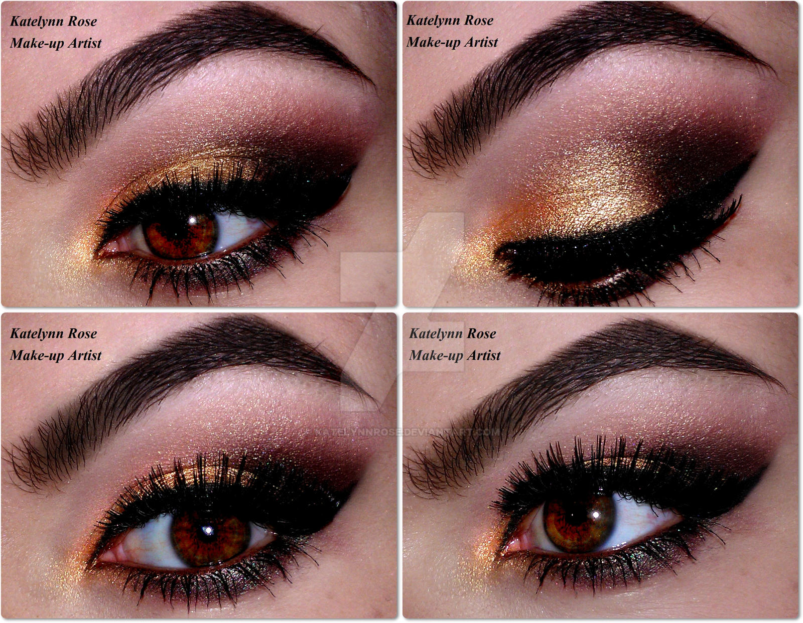 Everyday Gold Look  -  YOUTUBE TUTORIAL :D by KatelynnRose
