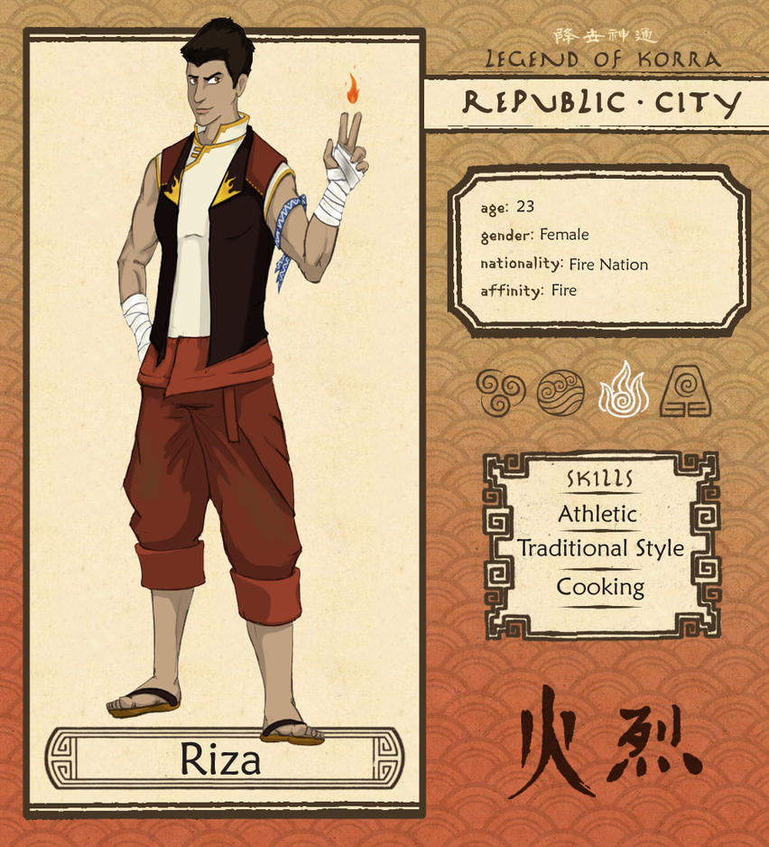 Republic City - Riza by BlueLucied