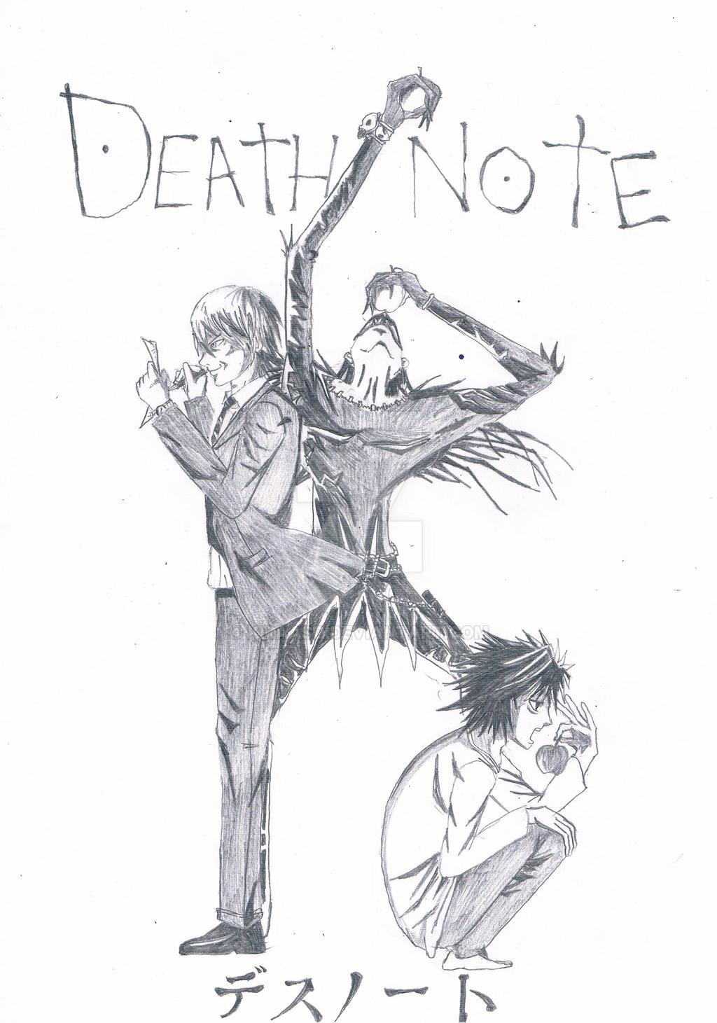Death Note-Light Ryuk L by Kiraasd on DeviantArt
