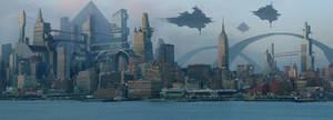 future cityscape concept WIP 5