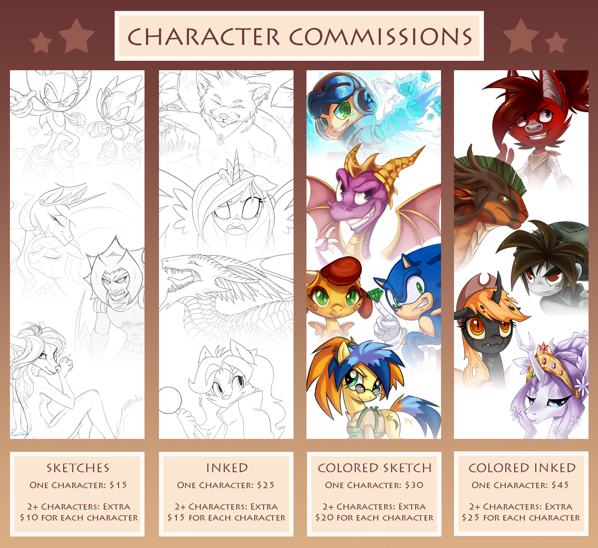 character commission sheet by heilos on deviantart