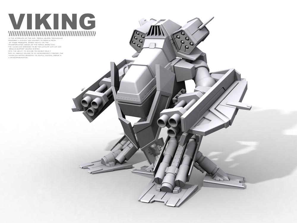 Starcraft Viking by Alzarys