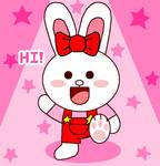 Line Cony Bunny Pink