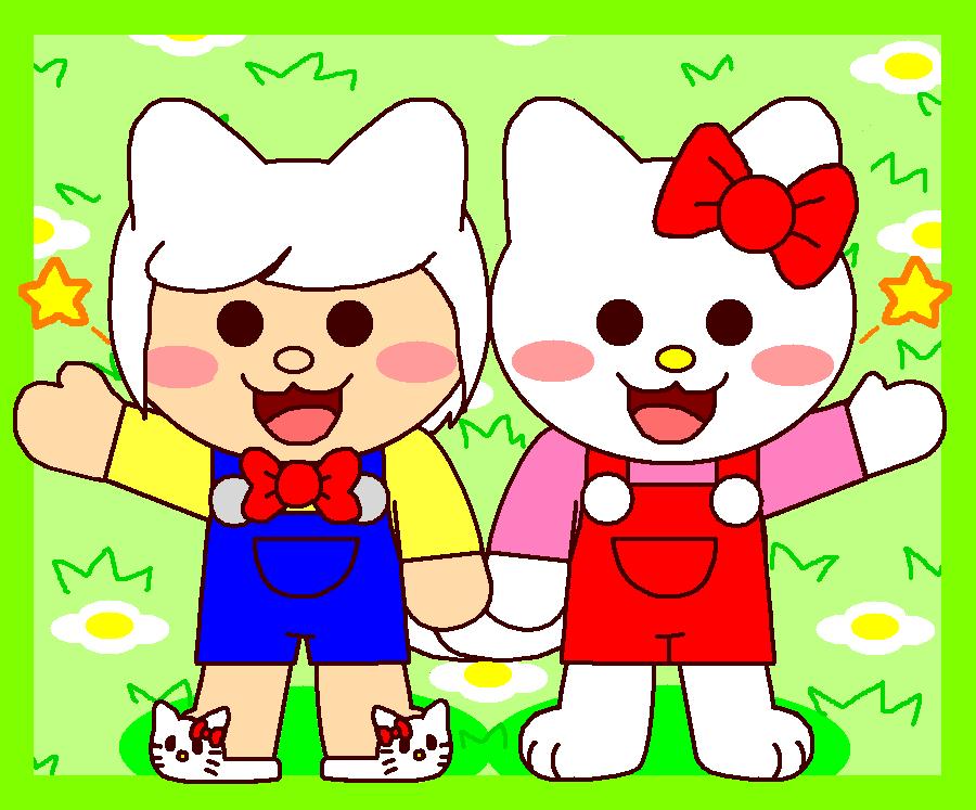 OC Felyne Fake and Hello Kitty