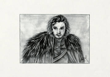 Jon Snow drawing - Game of Thrones - fanart
