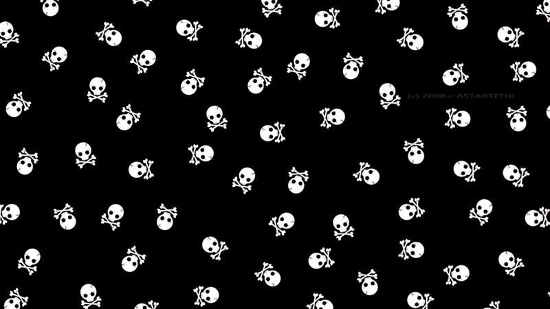 Skull Print Wallpaper