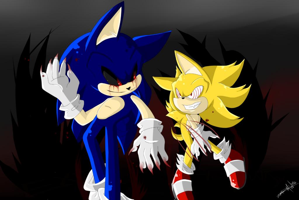 Fleetway Super Sonic Dark Sonic – Dibujos Para Colorear