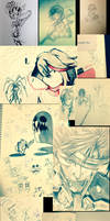 Doodles 2014-2015 by FlamieDeWynter