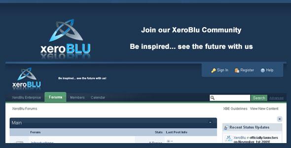 XeroBlu Forum Banner by XeroBlu