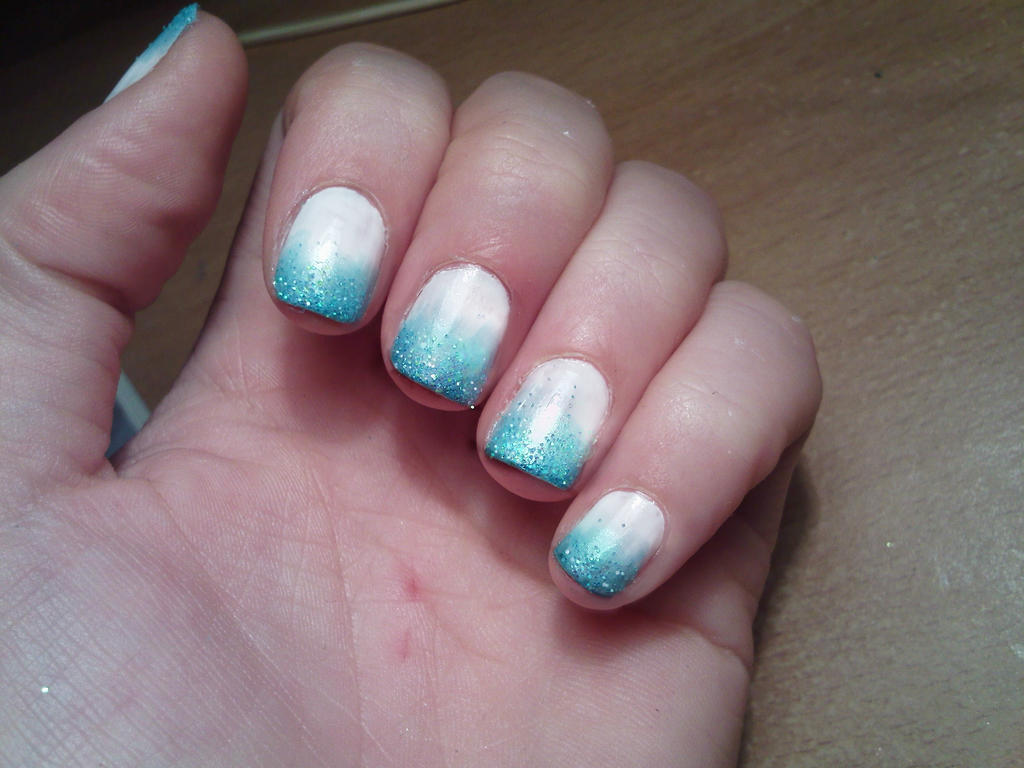 Frosty tips nail art by Pttcrab on DeviantArt