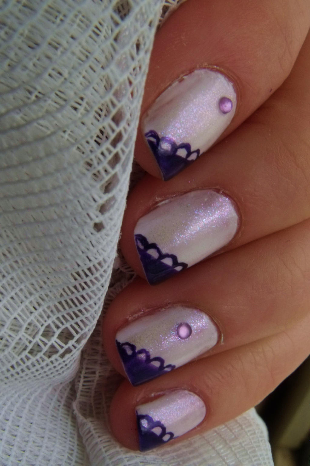 Simple purple and shimmery white nail art by pttcrab on deviantart simple purple and shimmery white nail art by pttcrab prinsesfo Images