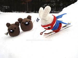 Plush Olympics: Skiing