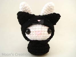 Black Cat Moon Bun