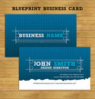 Blueprint Business Card by UniqueCreativity