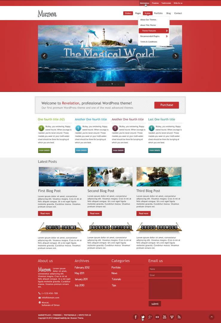 Muzoon - WP Theme - Homepage 1