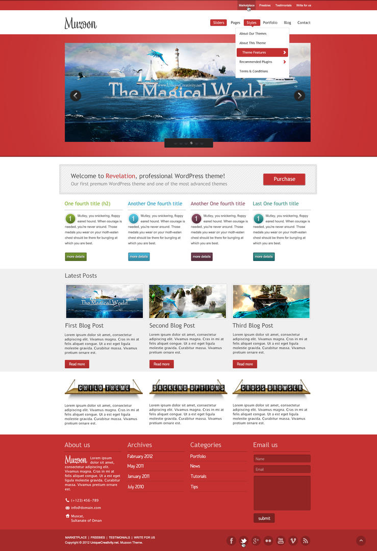 Muzoon - WP Theme - Homepage 1 by UniqueCreativity