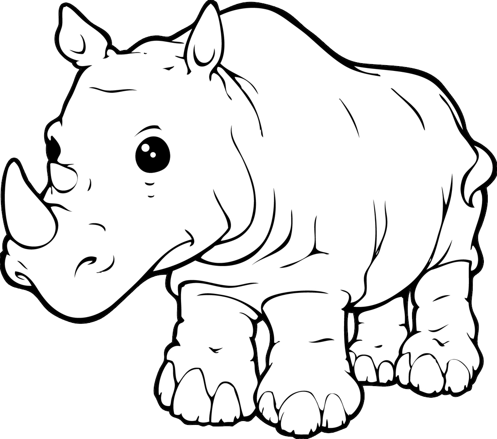 Rhinoceros Free Colouring Pages Rhinoceros Coloring Page