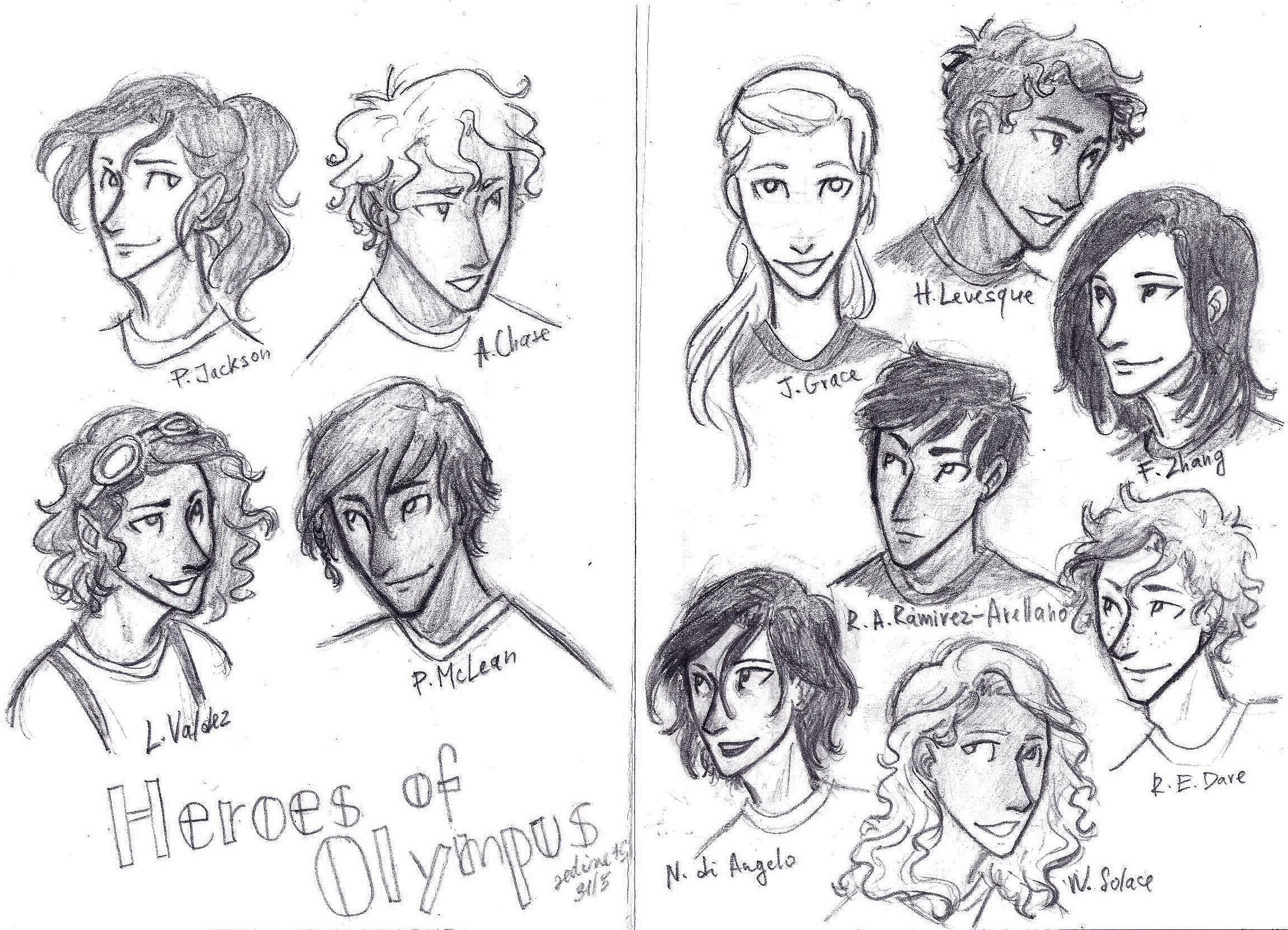 heroes of olympus draw...
