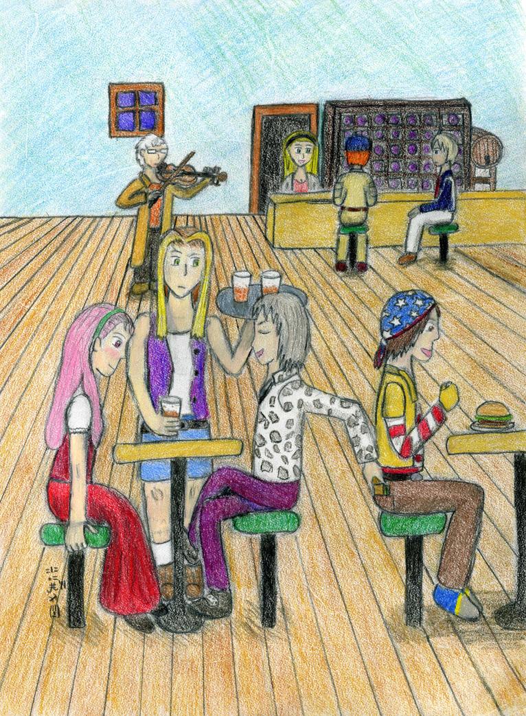 The Bar Scene by SirWongIII