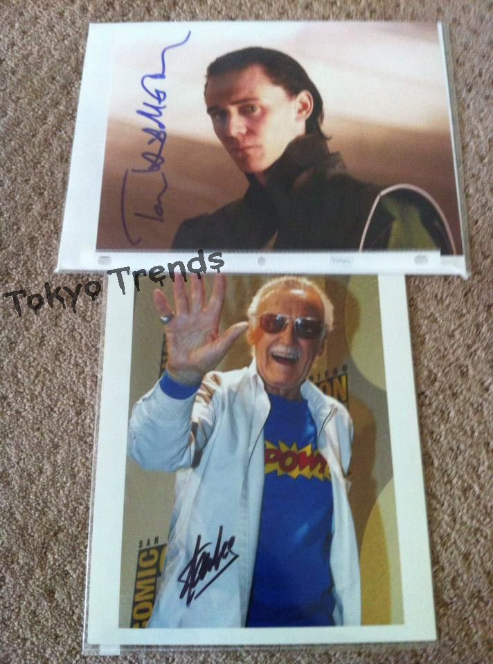 Tom Hiddleston and Stan Lee Autographs I got by Tokyo-Trends