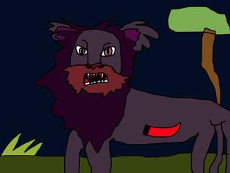 Dark Lion {Raphael Lion} by AlinaWerewolf6543