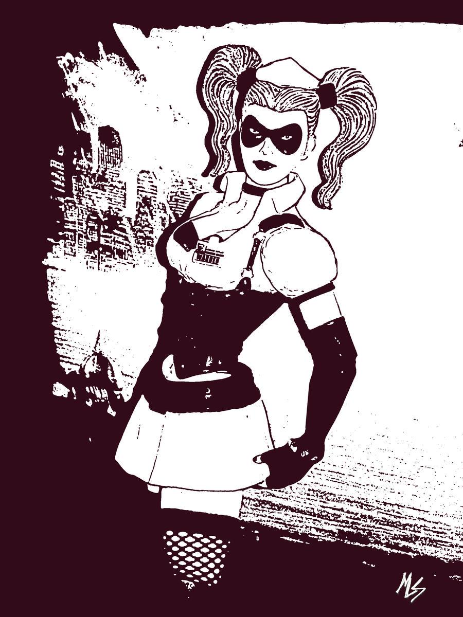 Harley Quinn Arkham Asylum by marklevidude