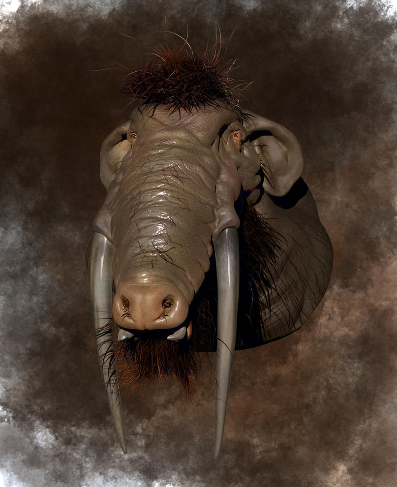 Platybelodon by mihciko