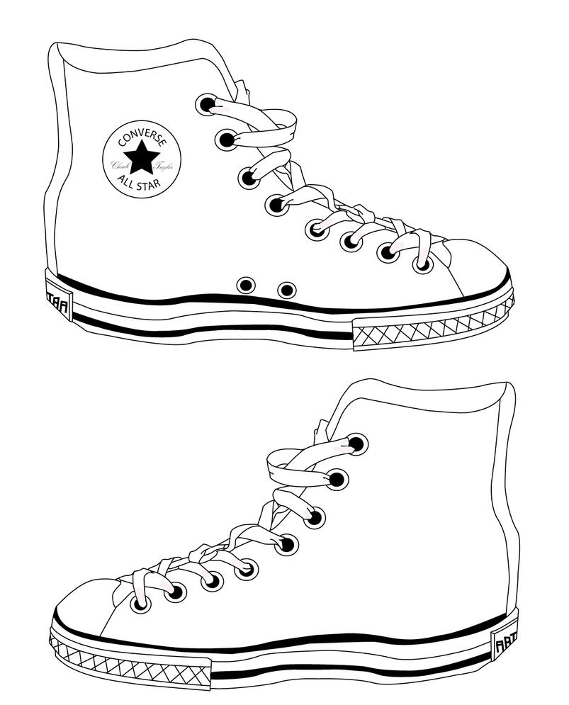 Converse all star coloring pages