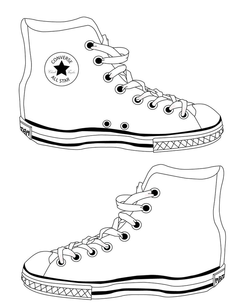 Converse Shoes Template by Reinvigorate on DeviantArt
