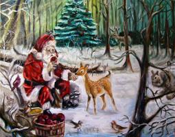 Christmas forest by Alena-Koshkar