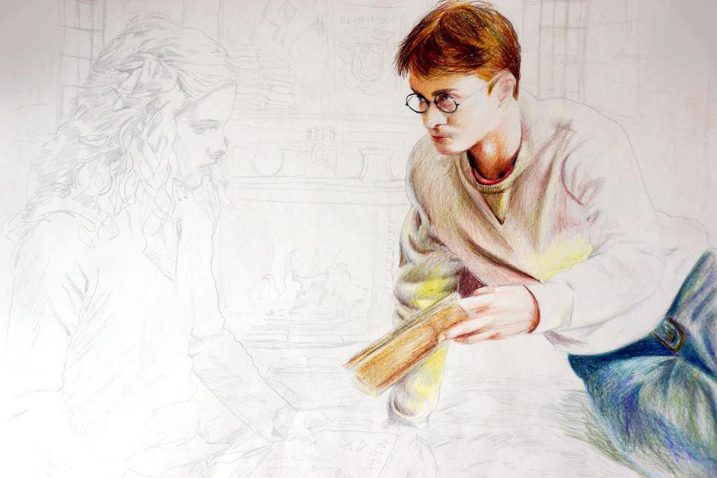 Harry Potter Sketch by Alena-Koshkar