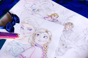 Frozen - WIP by Alena-Koshkar