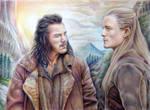 Legolas and Bard the Bowman by Alena-Koshkar