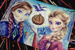 Anna and Elsa ( Halloween) WIP