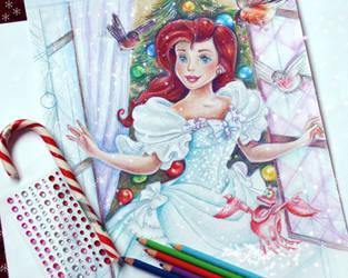 Ariel (Christmas morning) WIP by Alena-Koshkar