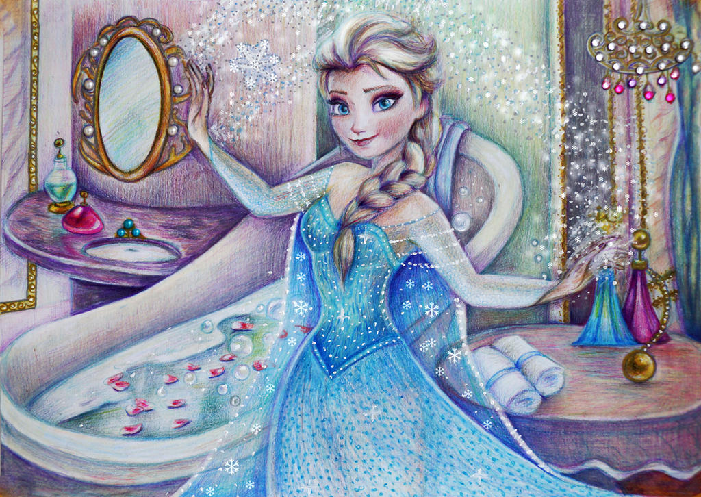 Elsa before the Grand Ball by Alena-Koshkar